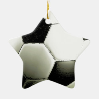 Soccer - Football Ceramic Star Decoration
