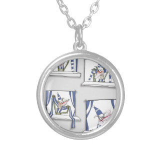 soccer football dog blues forever silver plated necklace