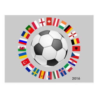 Soccer Football European Championship 2016 Postcard