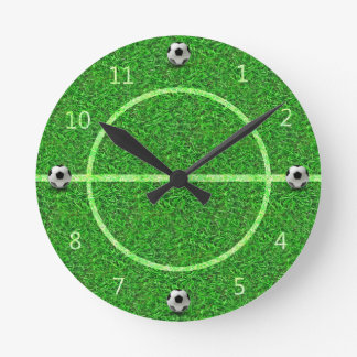 Soccer Football Field - Wall Clock