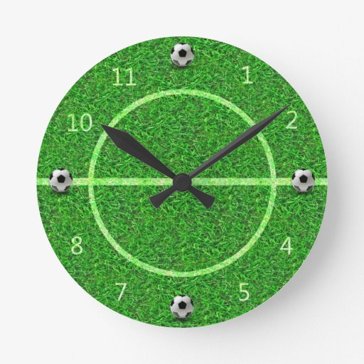 Soccer Football Field Ball - Wall Clock