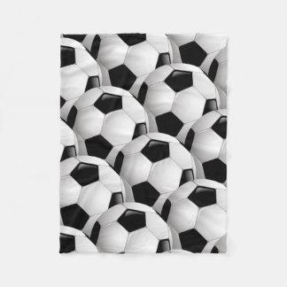 Soccer   Football Fleece Blanket
