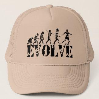 Soccer Football Futbol Player Sport Evolution Art Trucker Hat