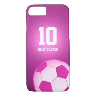 Soccer   Football Girly Best Player No. iPhone 7 Case