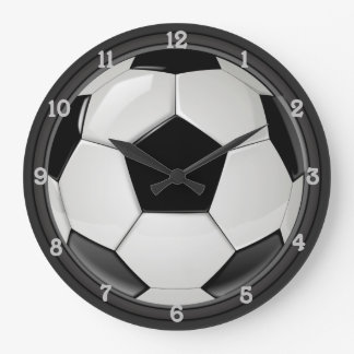 Soccer (Football) Large Clock