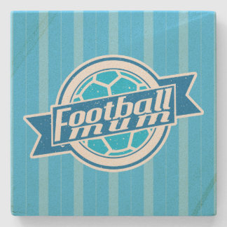 Soccer Football Mum Stone Coaster (blue)