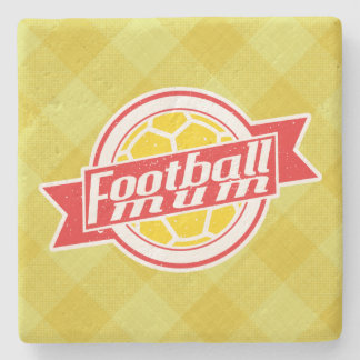 Soccer Football Mum Stone Coaster (red)