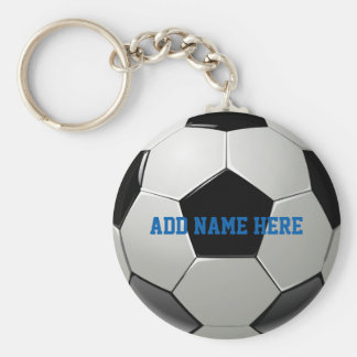 Soccer Football Name Customized Key Ring
