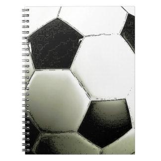 Soccer - Football Spiral Note Books