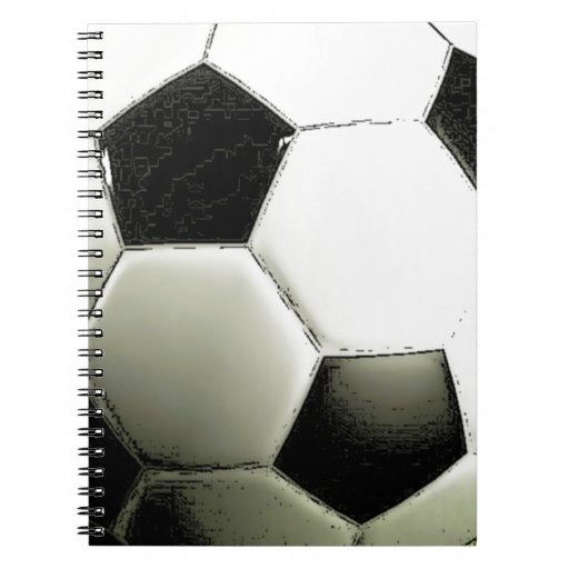 Soccer - Football Spiral Note Books
