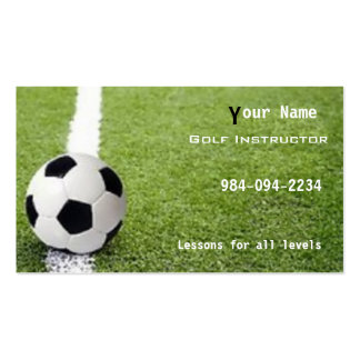 Soccer football pack of standard business cards