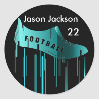 Soccer/Football personalized sports design Round Sticker