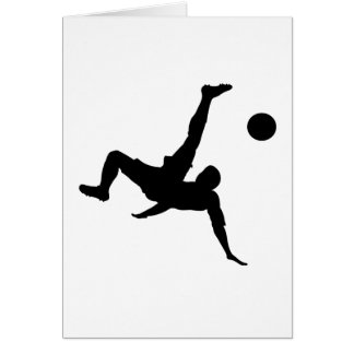 Soccer/Football Player Kicking Ball Greeting Card