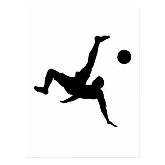 Soccer/Football Player Kicking Ball Postcard