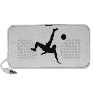 Soccer Football Player Kicking Ball Portable Speakers