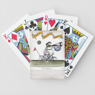 soccer football referee bicycle playing cards