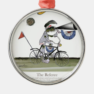 soccer football referee christmas ornament