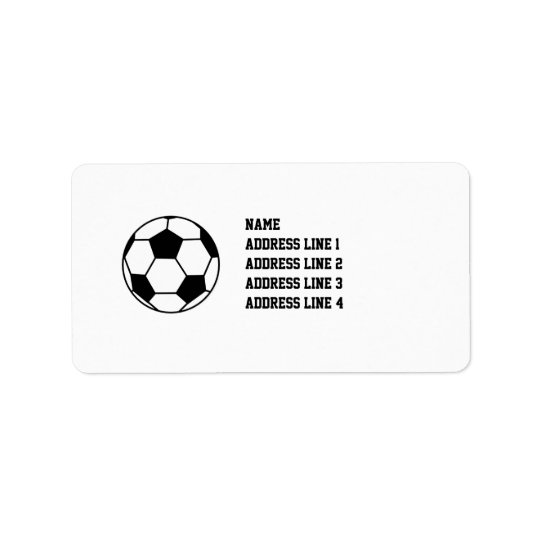 Soccer Football Return Address Labels or Name Tags