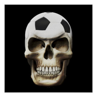 Soccer (Football) Skull Posters