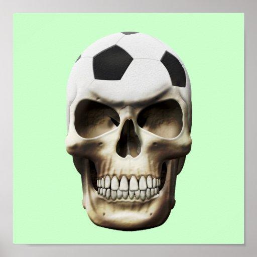 Soccer (Football) Skull Print