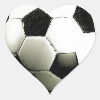 Soccer - Football Heart Sticker