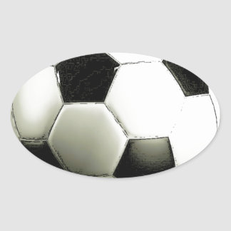 Soccer - Football Oval Sticker