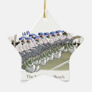 soccer football subs blue white stripes christmas ornament