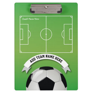Soccer Football Team Coach Personalized Clipboards