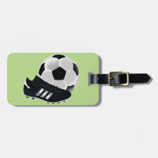 Soccer / Football theme soccer ball Luggage Tag