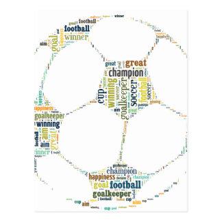 Soccer Football  Word Tag Cloud Postcard