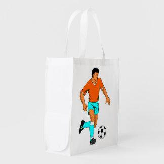 Soccer footballer image for reuseable bag