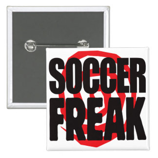 Soccer Freak 15 Cm Square Badge