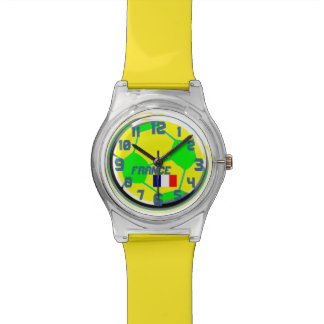 Soccer French flag and customizable name France Watches