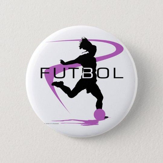 Soccer Futbol - Girls - Pink 6 Cm Round Badge