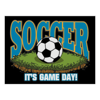 Soccer Game Day Poster