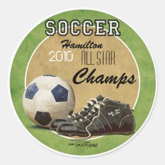 Soccer Game Classic Round Sticker