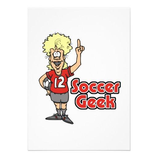 soccer geek girl invitation