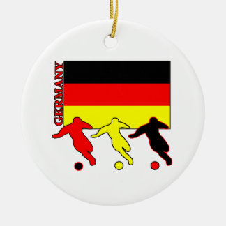 Soccer Germany Round Ceramic Decoration