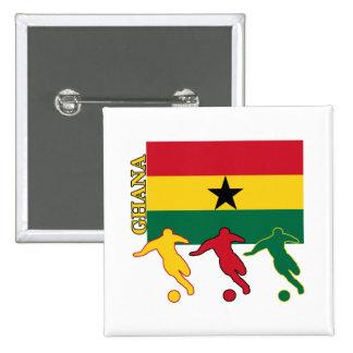 Soccer Ghana Pinback Buttons