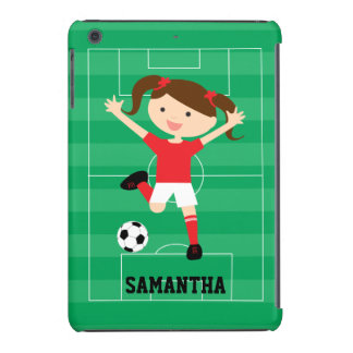 Soccer Girl 1 Red and White iPad Mini Retina Case