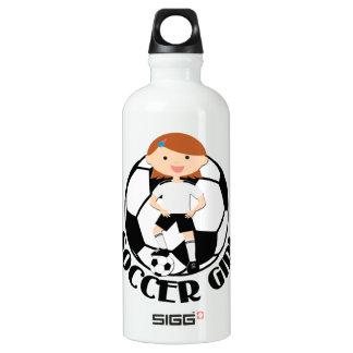 Soccer Girl 3 and Ball Black and White SIGG Traveller 0.6L Water Bottle