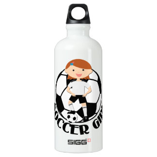 Soccer Girl 3 and Ball Black and White SIGG Traveller 0.6L Water Bottle