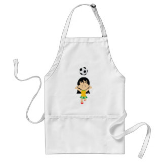 Soccer Girl Adult Apron