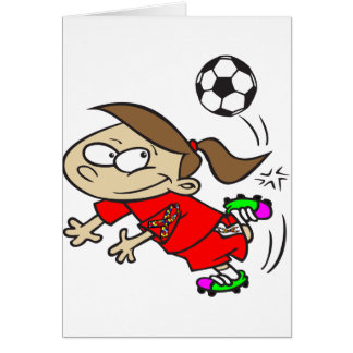SOCCER GIRL AUTISM RIBBON GREETING CARD