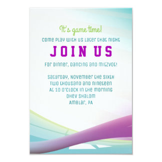 SOCCER GIRL Bar Mitzvah Invitation Party Card
