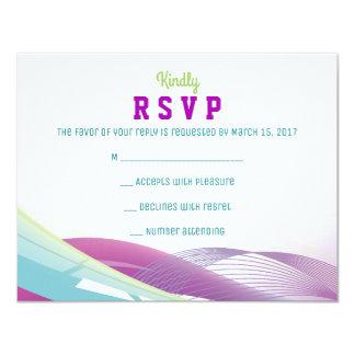 SOCCER GIRL Bar Mitzvah Invitation Reply Card