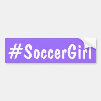 Soccer Girl Bumper Sticker