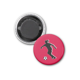 Soccer Girl Chess TAG Forward (Queen) - Red-R Magnets