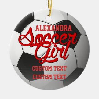 Soccer Girl Custom Christmas Ornament