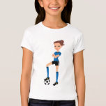 Soccer Girl Illustrated Tee